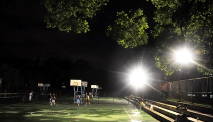 Đèn pha năng lượng sân chơi