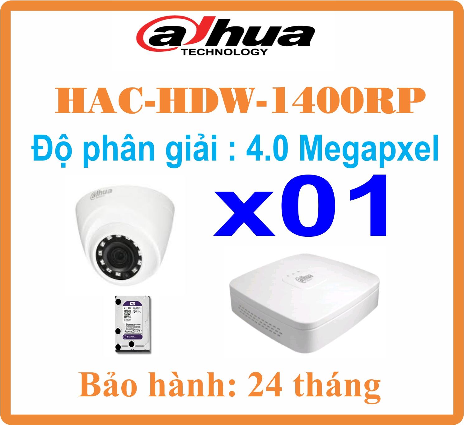 BỘ 01 CAMERA dome Dahua 4.0Megapixel