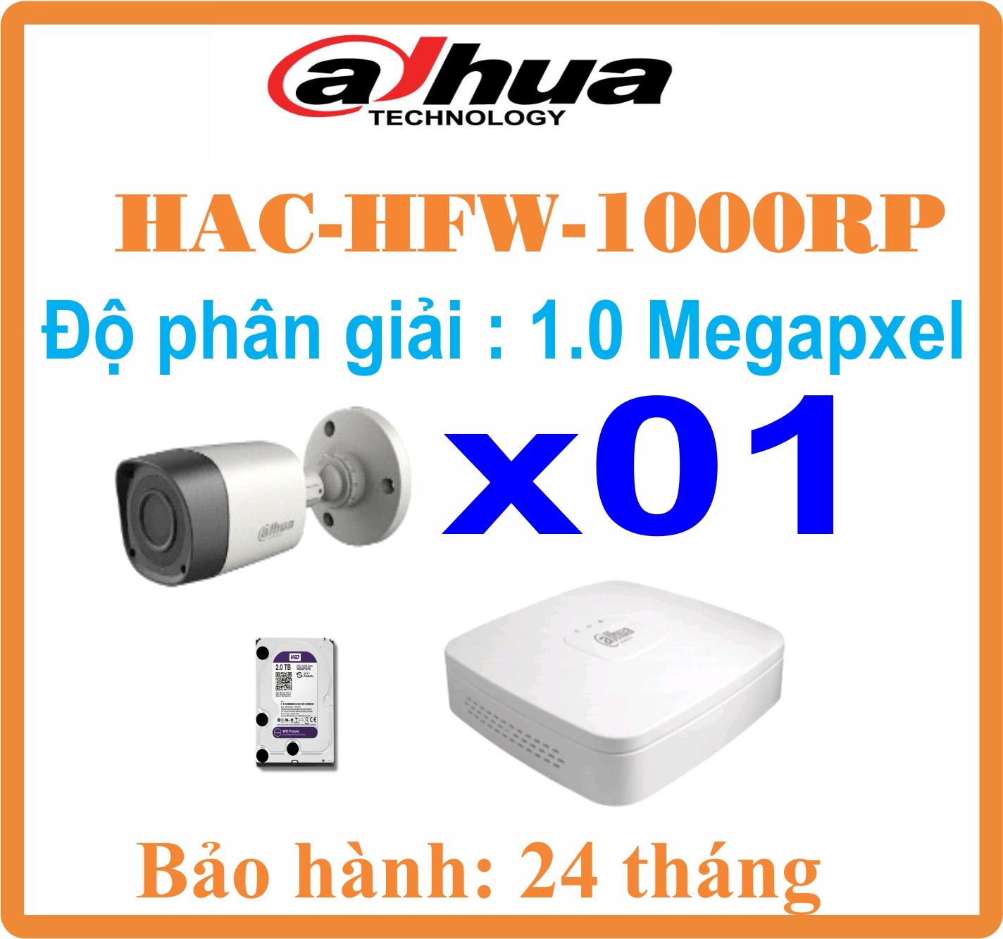 BỘ 01 CAMERA Thân Dahua 1.0 Megapixel Giá Rẻ