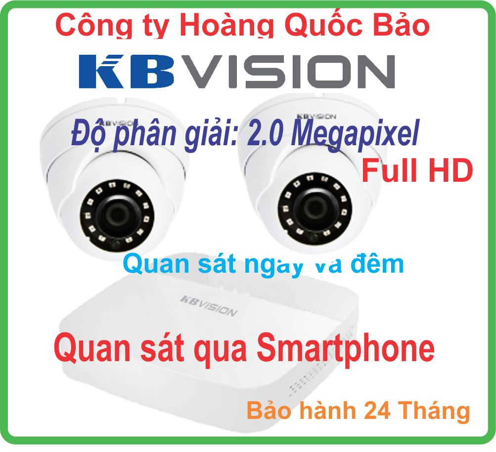 BỘ 02 CAMERA KBVISION 2.0M