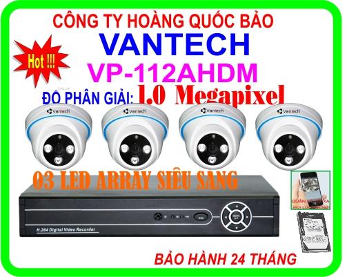 Hệ Thống 4 Camera Khuyến Mãi VANTECH HQB - 112AHDM