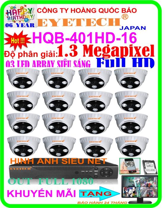 Hệ Thống 16 Camera Khuyến Mãi EYETECH HQB 401HD-16D