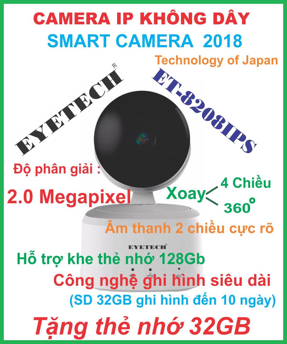 Camera Ip Không Dây Thông Minh 2.0 Megapixel FULL HD1080P