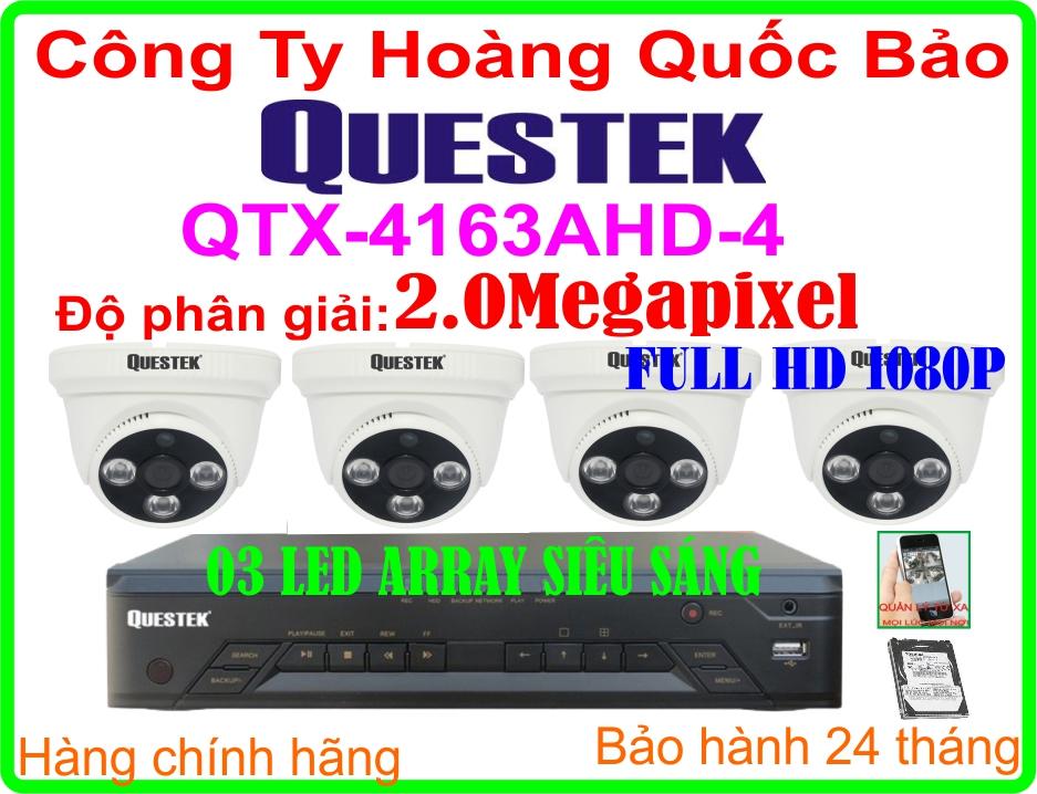Hệ Thống 4 Camera Khuyến Mãi QUESTEK QTX-4163AHD