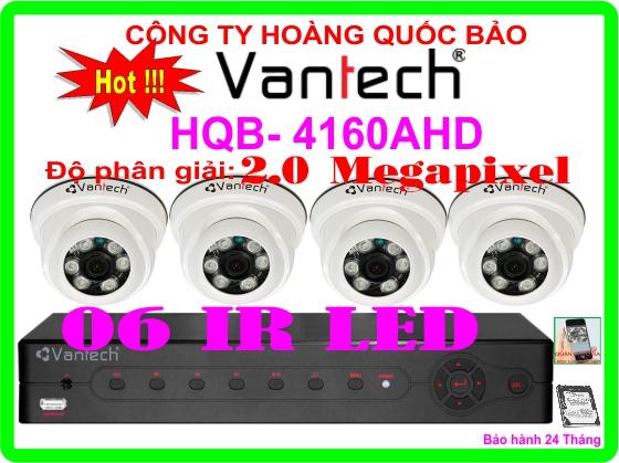 Hệ Thống 4 Camera Khuyến Mãi CAMERA VANTECH HQB-4160AHD