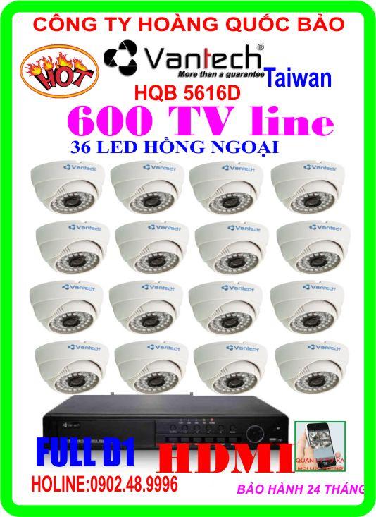 Hệ Thống 16 Camera Khuyến Mãi VANTECH HQB 5616D