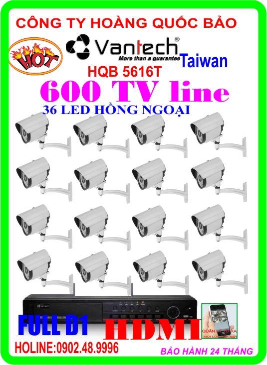 Hệ Thống 16 Camera Khuyến Mãi VANTECH HQB 5616T
