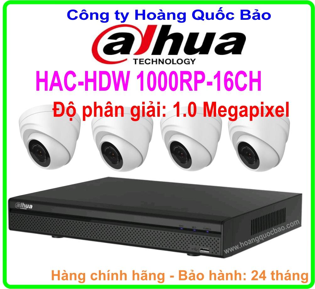 Khuyến Mãi Hệ Thống 4 Camera DAHUA Giá Rẻ HAC HDW-1000RP