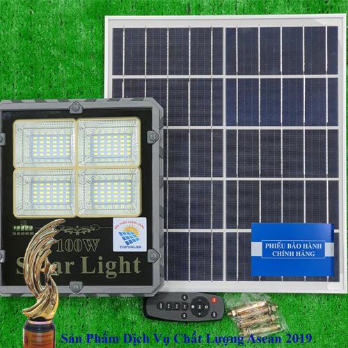 ĐÈN 100W NĂNG LƯỢNG MẶT TRỜI - ĐÈN LED BÁO PIN  - MẪU MỚI 2020 TOPSOLAR  TS - 85100L - Solar Light 100W