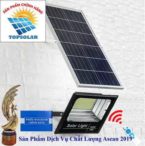 ĐÈN 200W NĂNG LƯỢNG MẶT TRỜI - ĐÈN PHA NĂNG LƯỢNG MẶT TRỜI Solar Light TOPSOLAR 200W