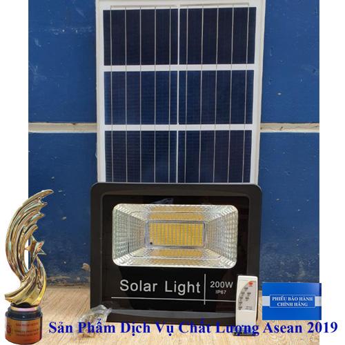 ĐÈN 200W  NĂNG LƯỢNG MẶT TRỜI ÁNH SÁNG MÀU VÀNG - Solar Light 200W