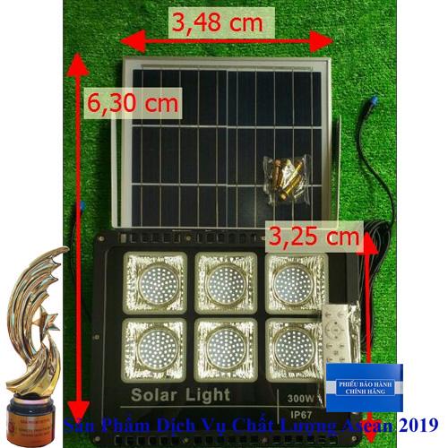 Đèn 300W NĂNG LƯỢNG MẶT TRỜI - TRONG NHÀ - HÀNH LANG - BAN CÔNG... - Solar Light 300W