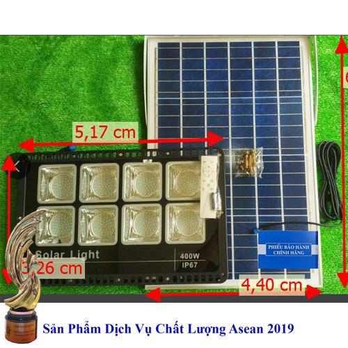Đèn 400W năng lượng mặt trời điều khiển từ xa