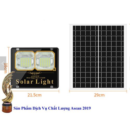 Đèn 40W Pin Rời - Đèn năng lượng mặt trời 40W