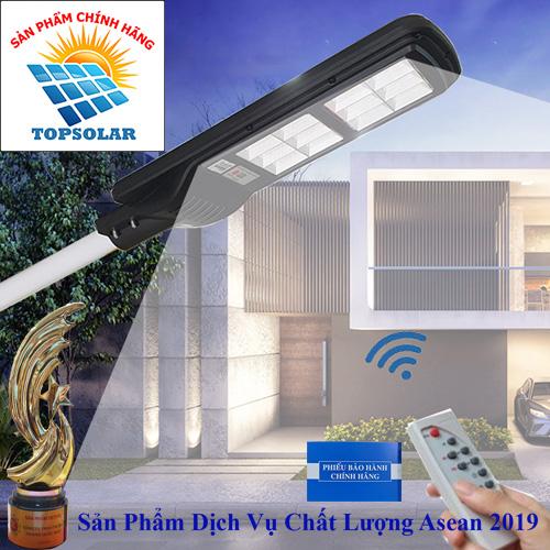 Đèn đường 120W năng lượng mặt trời liền thể  chống nước - Solar light TOPSOLAR 120W 12 ô