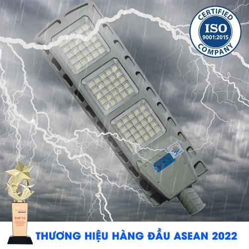 Đèn Đường 300W - Đèn Đường Năng Lượng Mặt Trời Solar Light Top Solar 300W Vỏ Kim Loại