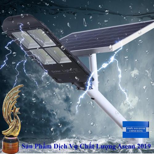 ĐÈN ĐƯỜNG 300W NĂNG LƯỢNG MẶT TRỜI  GIÁ RẺ - MÀU ĐEN NHÔM NGUYÊN KHỐI - Solar Light 300W