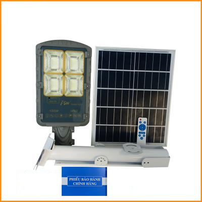 Đèn đường FSW 100W Năng Lượng Mặt Trời - Đèn Năng Lượng Mặt Trời 100W Cao Cấp - Solar Light 100W