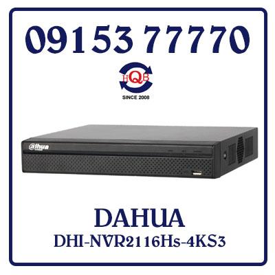 DHI-NVR2116Hs-4KS3 Đầu Ghi Hình DAHUA DHI-NVR2116Hs-4KS3 Giá Rẻ