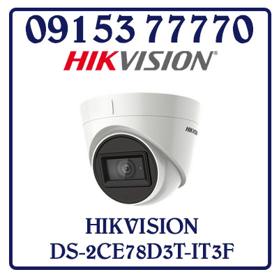 DS-2CE78D3T-IT3F Camera HIKVISION HD-TVI 2MP Giá Rẻ