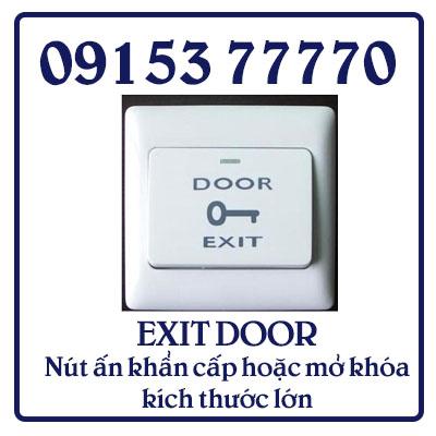 EXIT DOOR Nút ấn khẩn cấp hoặc mở khóa kích thước lớn