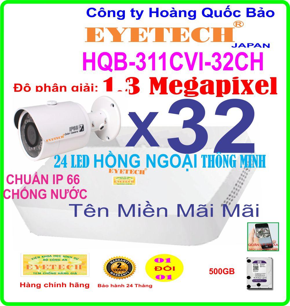 Hệ Thống 32 Camera Khuyến Mãi EYETECH HQB ET-311CVI-32CH