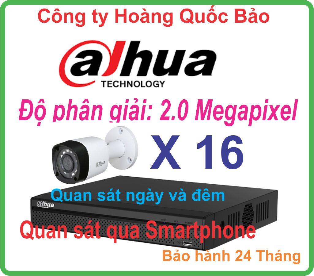 Hệ Thống 16 Camera Khuyến Mãi DAHUA 2.0 Megapixel Giá Rẻ