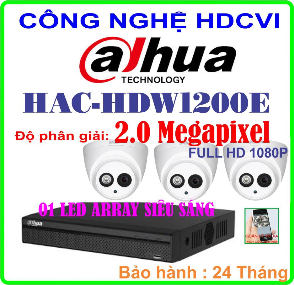 Hệ Thống 3 Camera Khuyến Mãi CAMERA DAHUA HAC-HDW1200E Giá Rẻ