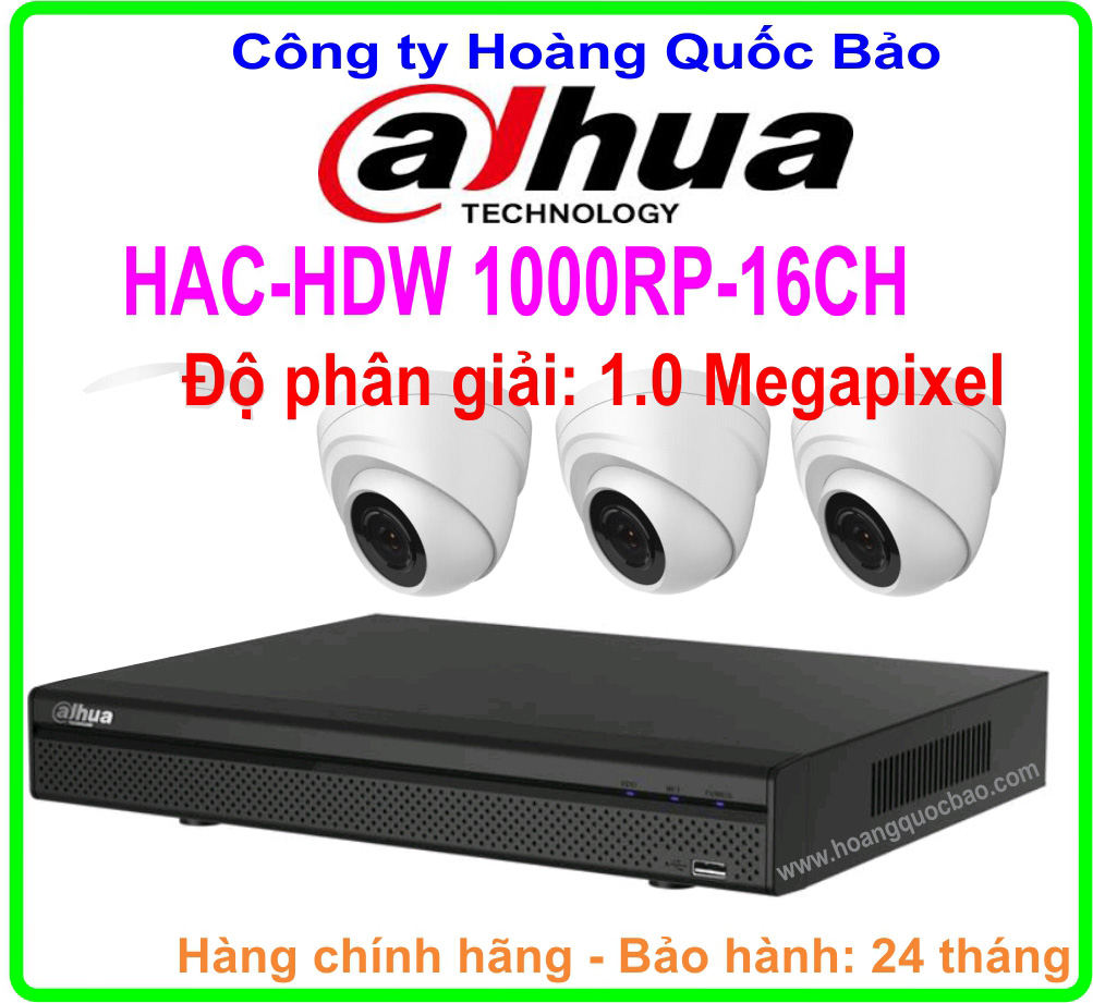 Hệ Thống 3 Camera Khuyến Mãi DAHUA HAC HDW- 1000RP Giá Rẻ