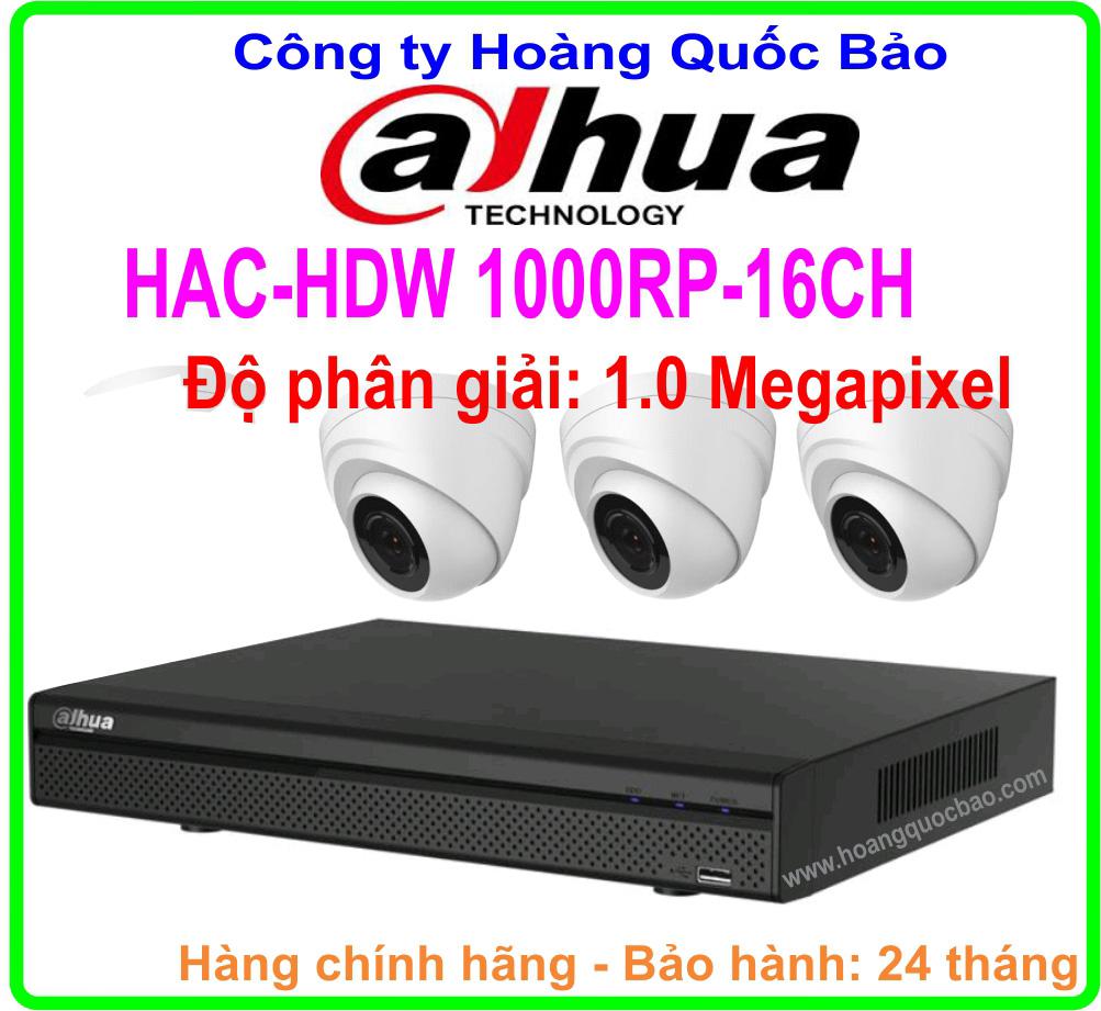 Hệ Thống 3 Camera Khuyến Mãi DAHUA HAC HDW- 1000RP