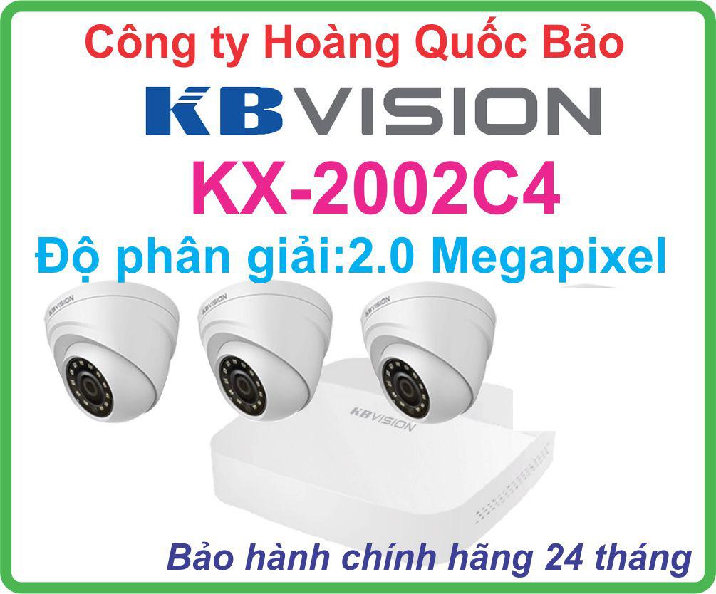Hệ Thống 3 Camera Khuyến Mãi KBVISION GIÁ RẺ KX-2002C4 Tốt Nhất