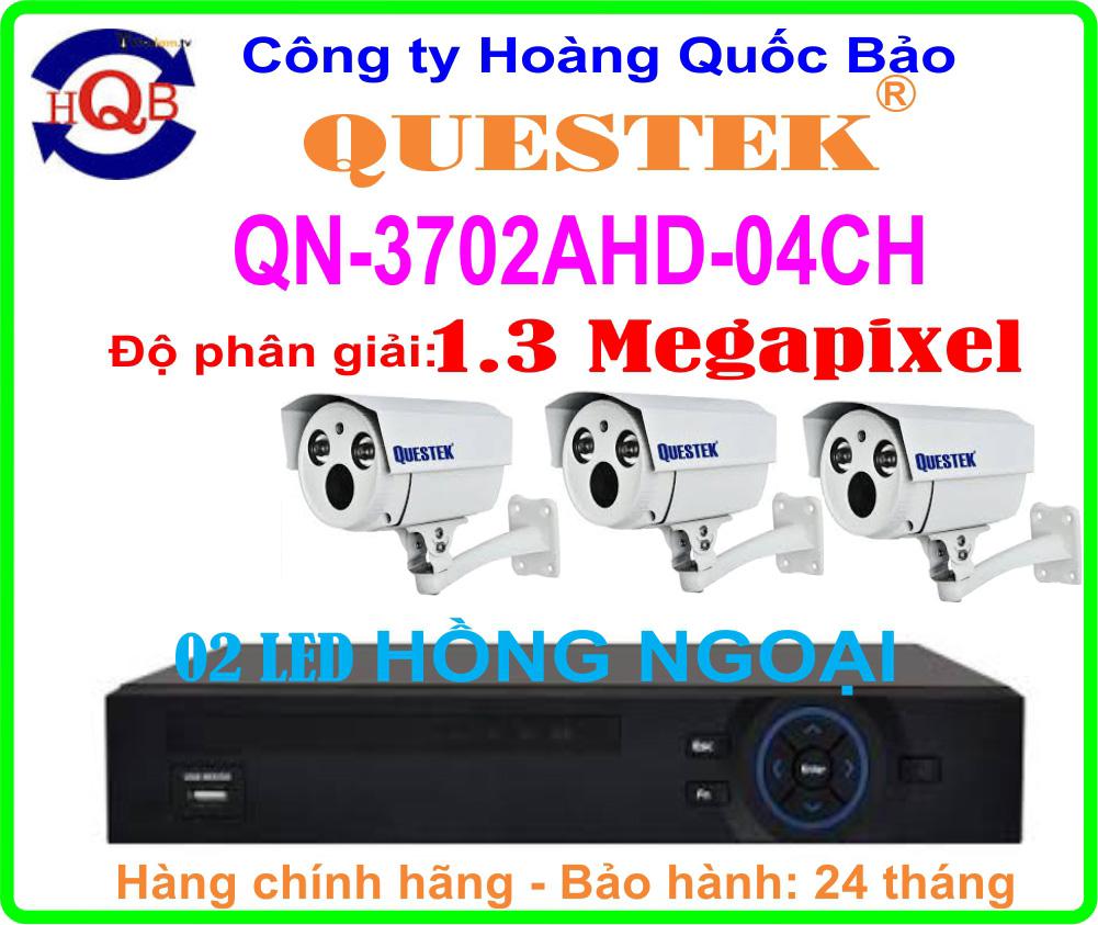 Hệ Thống 3 Camera Khuyến Mãi QUESTEK QN-3702AHD- 04CH
