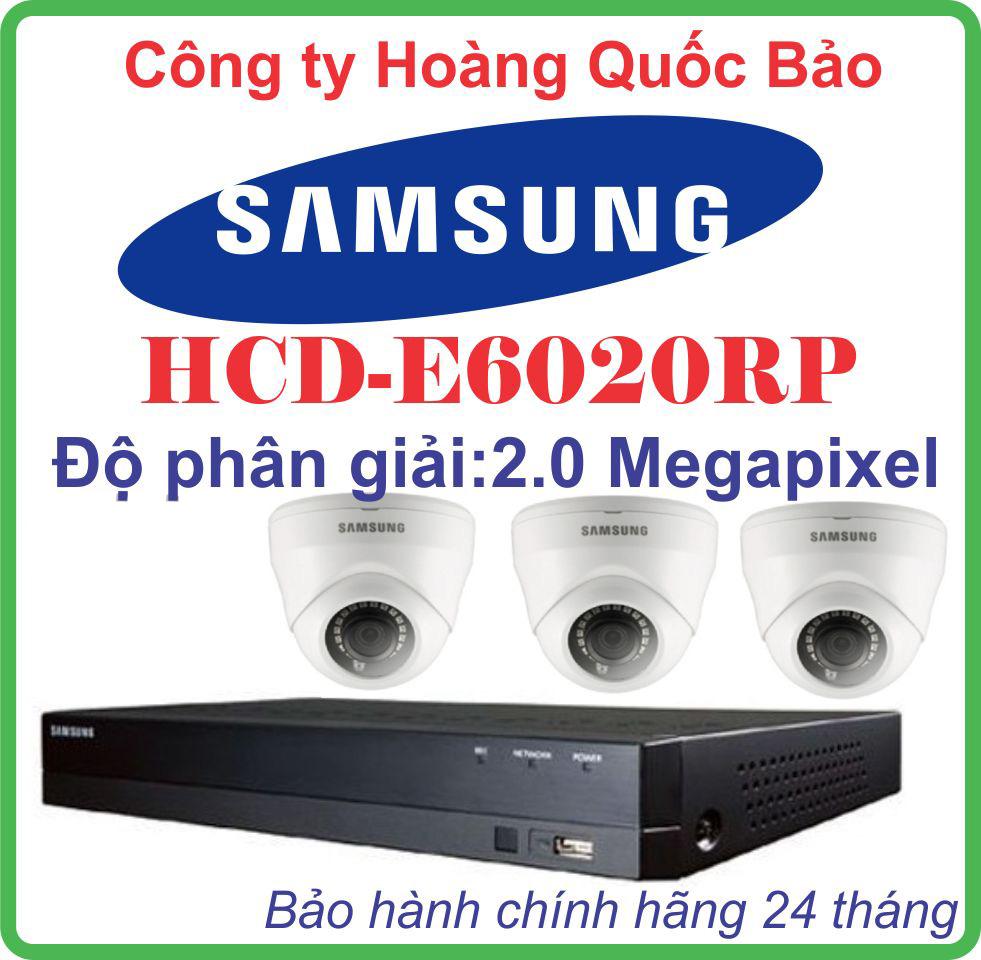 Hệ Thống 3 Camera Khuyến Mãi SAMSUNG HCD-E6020RP - 4CH