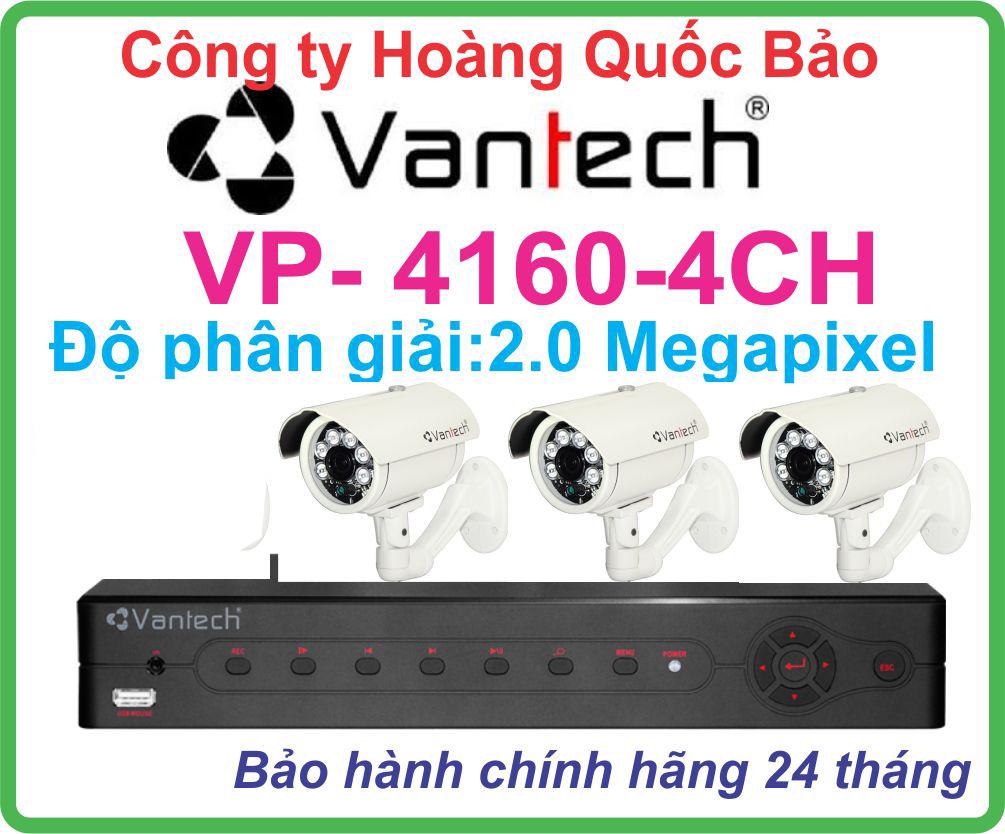 Hệ Thống 3 Camera Khuyến Mãi VANTECH VP-4160-04CH