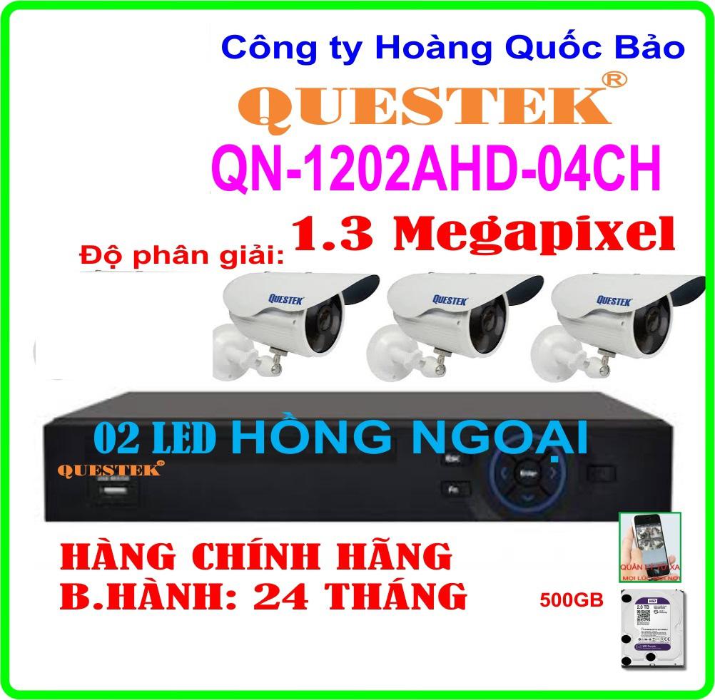 Hệ Thống 3 Camera QUESTEK ECO-1202AHD- 04CH