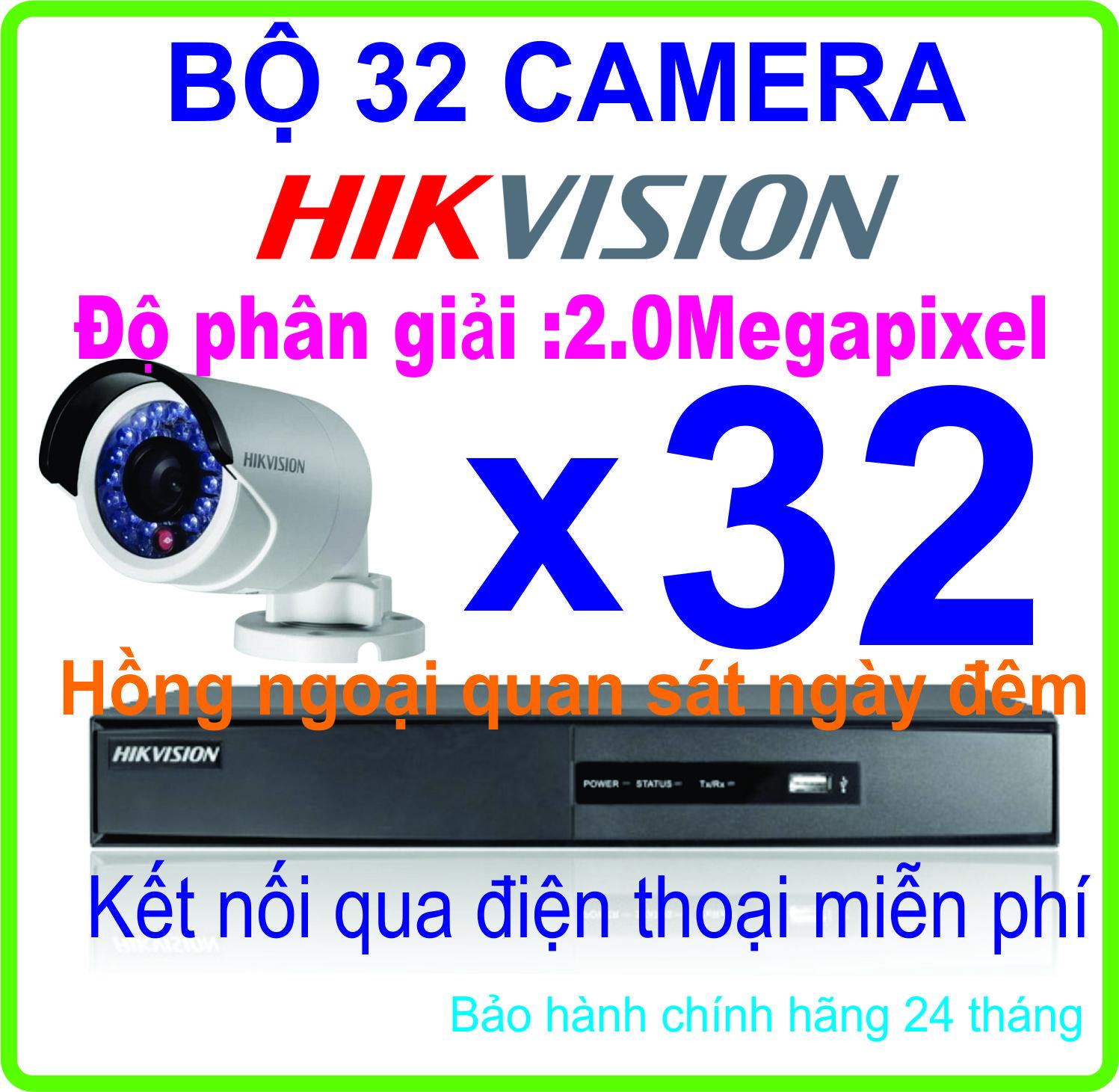 HỆ THỐNG 32 CAMERA HIKVISION 2.0Megapixel
