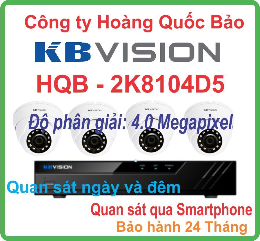 Hệ Thống 4 Camera Khuyến Mãi KBVISION KX-2K8104D5 Giá Rẻ
