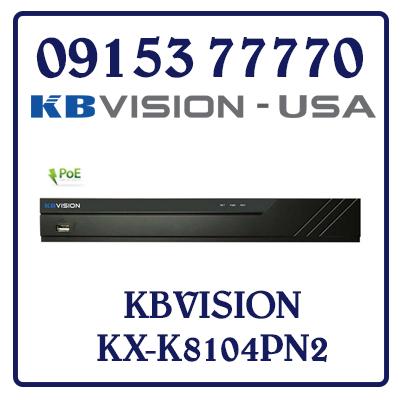 KX-K8104PN2 Đầu ghi IP POE 4 kênh KBVISION Giá Rẻ