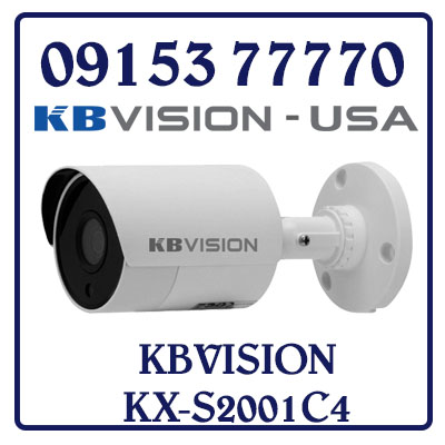 KX-S2001C4 HD ANALOG CAMERA KBVISION 2.0MP STARTLIGHT KX-S2001C4 Giá Rẻ