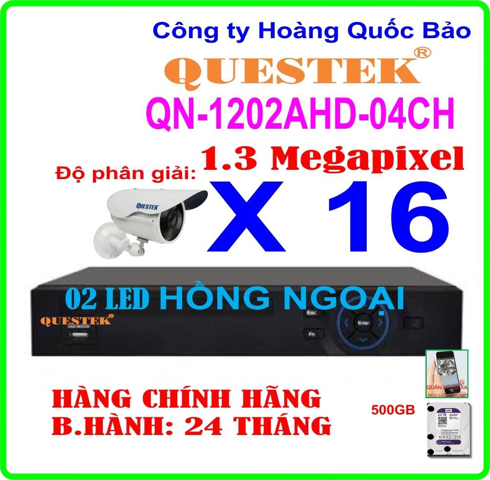 Hệ Thống 16 Camera Khuyến Mãi QUESTEK ECO-1202AHD- 16CH
