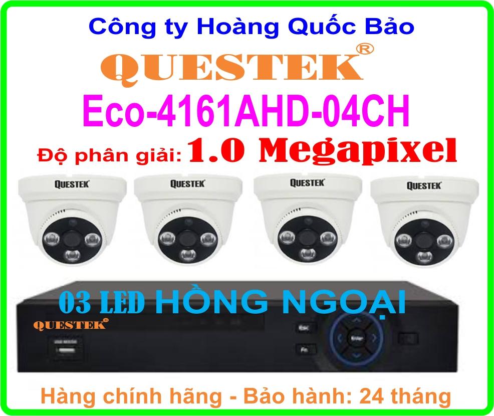 Hệ Thống 4 Camera Khuyến Mãi QUESTEK Eco-4161AHD - 04CH