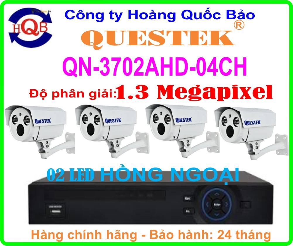 Hệ Thống 4 Camera Khuyến Mãi QUESTEK QN-3702AHD- 04CH