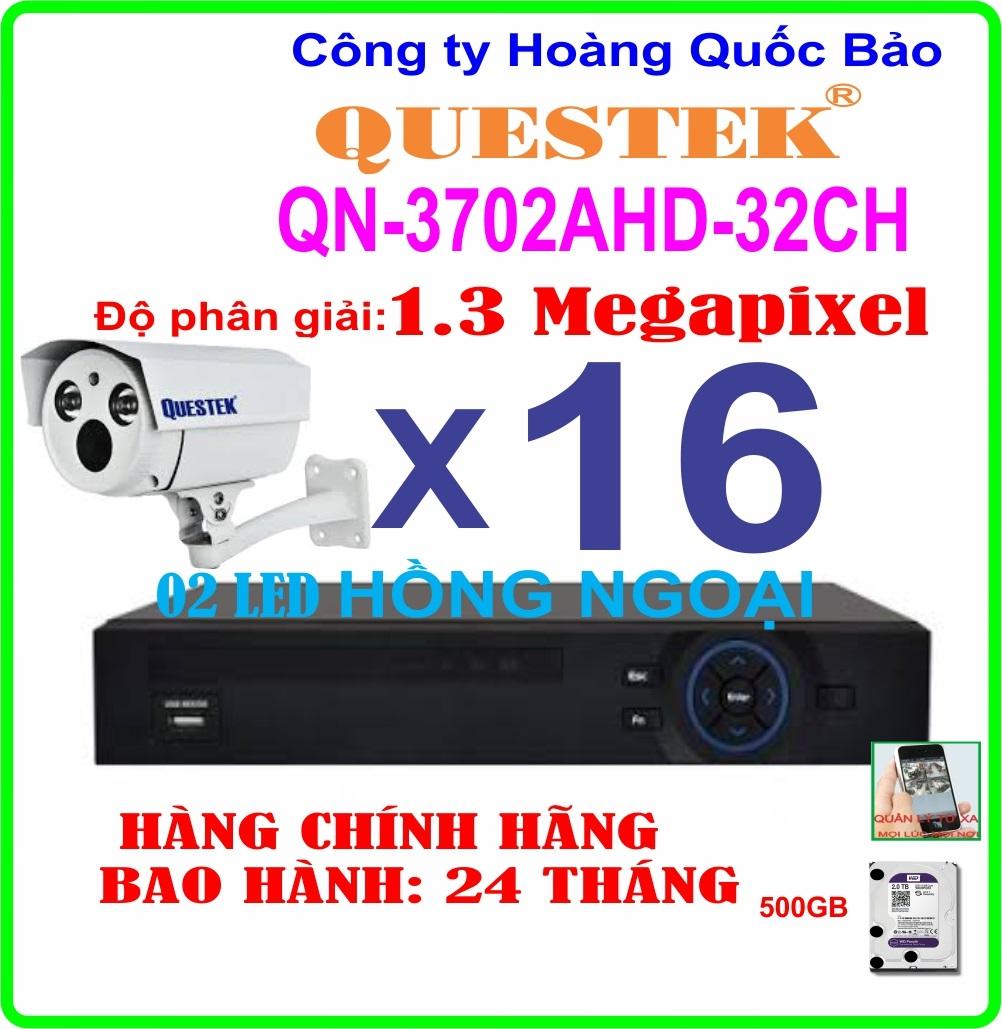 Hệ Thống 16 Camera Khuyến Mãi QUESTEK QN-3702AHD- 16CH