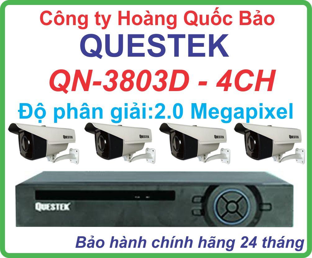 Hệ Thống 4 Camera Khuyến Mãi QUESTEK QN-3803D-04CH