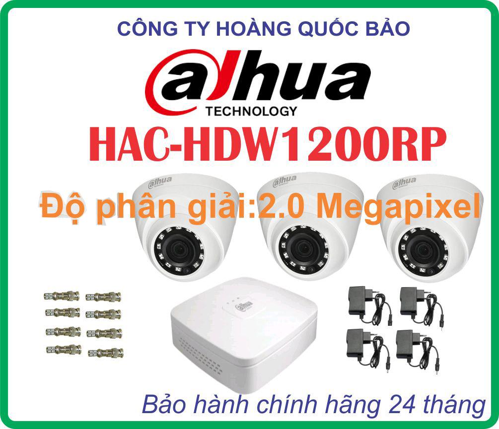 TRỌN BỘ 03CAMERA DAHUA HDW1200-RP Giá Rẻ