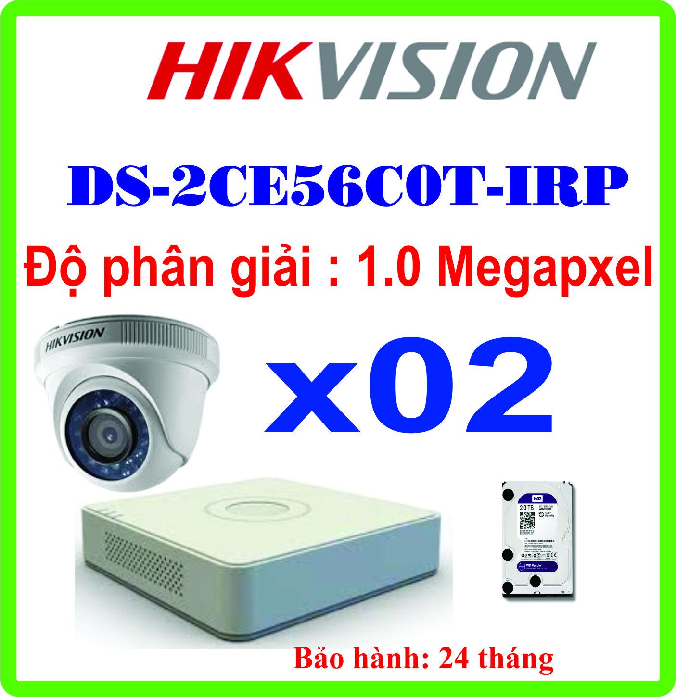 TRỌN BỘ 02 CAMERA HIKVISION DS-2CE56C0T-IRP