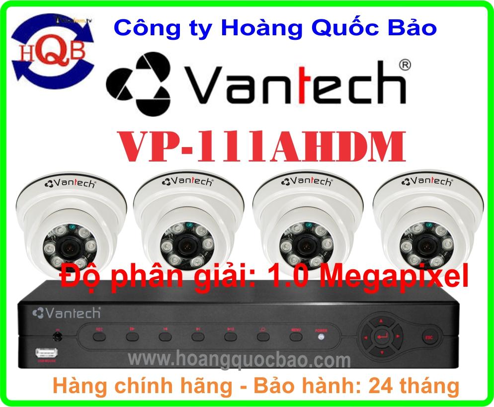 Hệ Thống 4 Camera Khuyến Mãi VANTECH VP-111AHDM -04CH