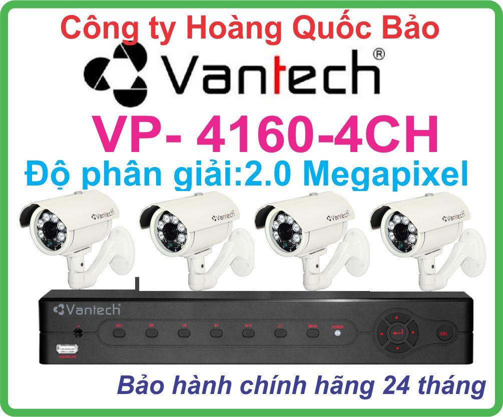 Hệ Thống 4 Camera Khuyến Mãi VANTECH VP-4160-04CH