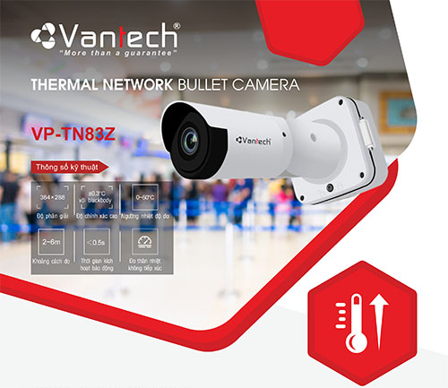 VP-TN83Z - Camera Tầm Nhiệt Vantech VP-TN83Z Đo Thân Nhiệt Hiệu Quả